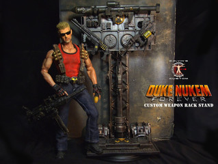Calvin's Custom 1:6 one sixth scale Duke Nukem with Weapon Rack Stand (a commission piece)