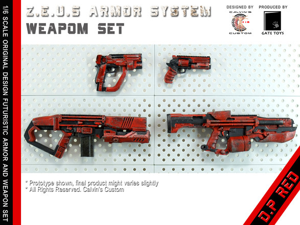 Calvin's Custom 1/6 original design Z.E.U.S Armor DP RED version  *Figure shown is produced by Sideshow Collectible