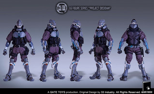 "GATE TOYS X 33 Industry 1:6 Figure Series ""Project Obsidian"""