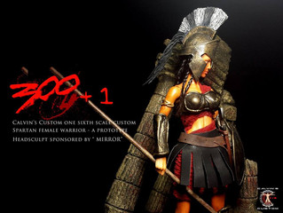 "Calvin's Custom 1:6 One Sixth Scale Spartan Female Warrior Headsculpt sponsored by ""MIRROR&"