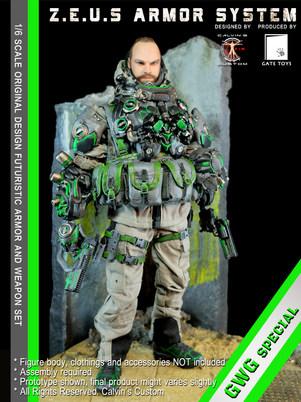 Calvin's Custom 1/6 original design Z.E.U.S Armor DP GWG Special version