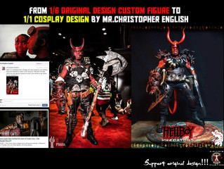 Calvin's Custom 1/6 original design Hellboy turned 1:1 Cosplay