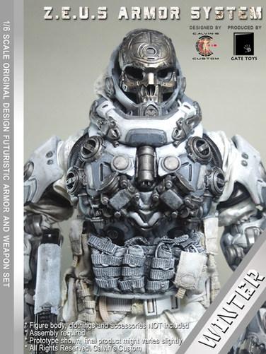 Calvin's Custom 1/6 original design Z.E.U.S Armor WINTER version