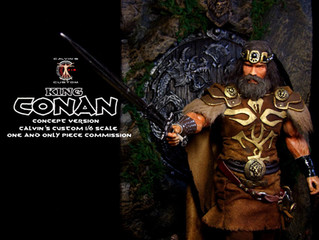 Calvin's Custom 1/6 one sixth scale Arnold Schwarzenegger as King Conan, based on a concept for