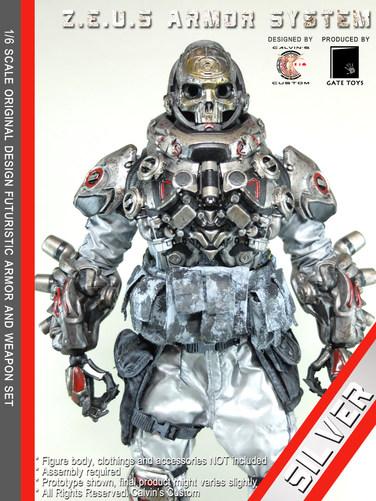 Calvin's Custom 1/6 original design Z.E.U.S Armor SILVER version