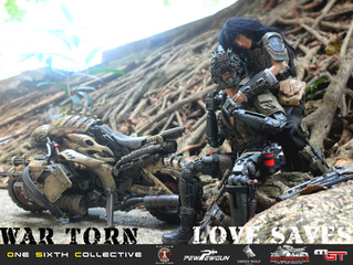"Calvin's Custom X GreenWolfGear X Pewpewgun ""War Torn; Love Saves"""