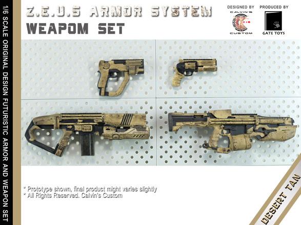 Calvin's Custom 1/6 original design Z.E.U.S Armor DESERT TAN version