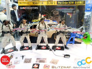 Blitzway's Ghostbusters full team assembled at TOYSOUL 2017