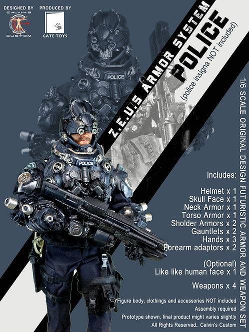Z.E.U.S POLICE Armor and/or Weapon Set