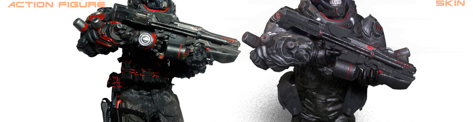 Goblin Gamer X Calvin's Custom X GATE TOYS 1st ever 1/6 X 3rd person shooting game project