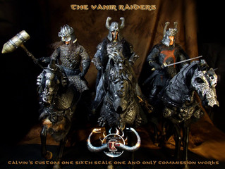 Calvin's Custom 1/6 one sixth scale custom Thusla Doom, Thorgrim and Rexor from Conan the Barbar