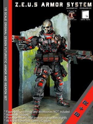 Calvin's Custom 1/6 original design Z.E.U.S Armor B+R version