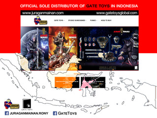 Juraganmainan is now the official sole distributor of GATE TOYS in Indonesia