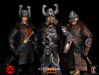 Calvin's Custom 1:6 one sixth scale custom Thulsa Doom, Thorgrim and Rexor from Conan the Barbar