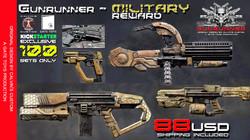 Gunrunner weapon set - Military