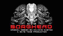 "Calvin's Custom X GATE TOYS 1/6 Original Design ""BORGHEAD"" cyborg headsculpt series"