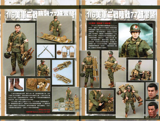 DiD Corp's 77th Infantry Division Combat Medic Dixon collectible action figure featured in Model
