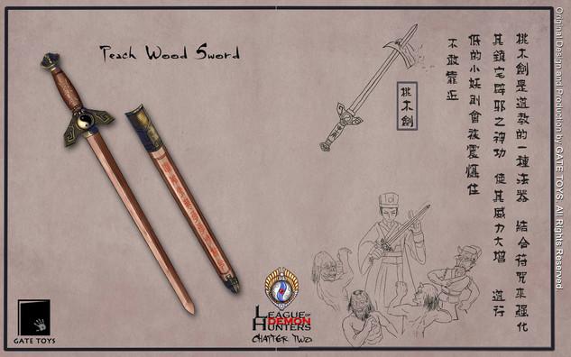 Peach Wood Sword, a powerful Taoist weapon against demons.