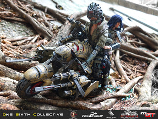 Calvin's Custom X Green Wolf Gear X PEW PEW GUN feat. Motopsycle 1/6 One Sixth Scale Customs