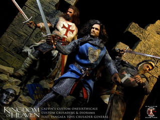 "Calvin's Custom 1/6 onesixthscale custom ""Kingdom of Heaven"" Diorama and Crusaders fea"