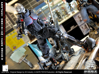 GATE TOYS X 33 Industry Project Obsidian : ZERO 1/6 Action Figure with Diorama base up for PRE-ORDER