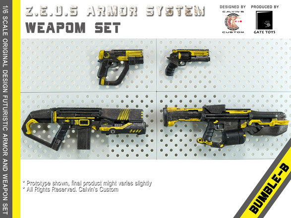 Calvin's Custom 1/6 original design Z.E.U.S Armor BUMBLEB version