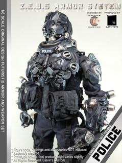 Calvin's Custom 1/6 original design Z.E.U.S Armor POLICE version