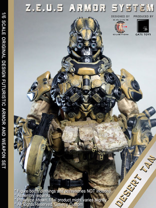 Calvin's Custom 1/6 original design Z.E.U.S Armor DESERT TAN version