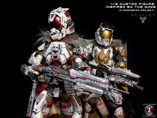 Calvin's Custom 1/6 one sixth scale Titan custom figures inspired by the Bungie game DESTINY
