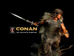 Calvin's Custom 1:6 one sixth scale Arnold Schwarzenegger as CONAN the Barbarian custom figure a