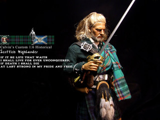 Calvin's Custom 1:6 one sixth scale Historical Figure Scottish Argyll and Sutherland  Highlander
