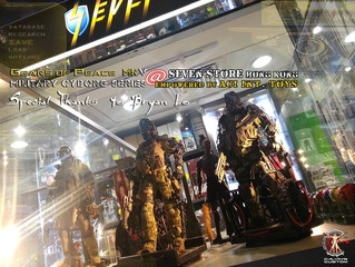 Calvin's Custom Gears of Peace MkV Military Cyborgs @ SEVEN Store Hong Kong
