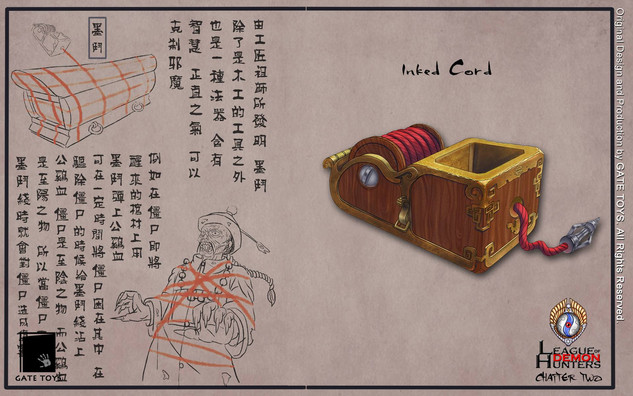 """Invented by the Father of Craftsman, apart from being an invaluable wood crafts tool, the Inked Cord is also a spiritual weapon. Embedded in it wisdom and positive """"Chi"""" , the Inked Cord soaked with cock's blood were used to capture vampires in China."""