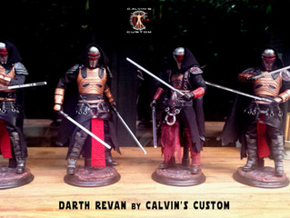 Calvin's Custom One Sixth Scale SWTOR DARTH REVAN final 8 commission pieces
