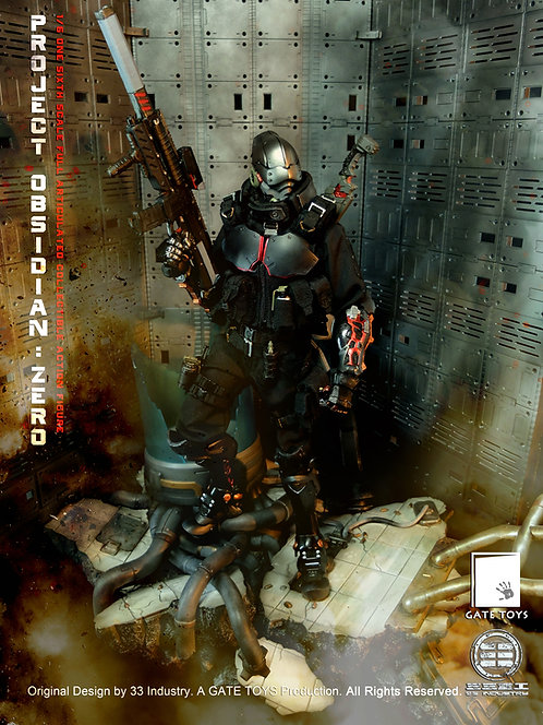 "GATE TOYS X 33 Industry ""Project Obsidian : ZERO"" 1/6 Scale Figure with Diorama"