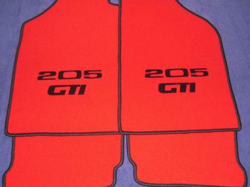 """M-Tapis de sol avec logo GTI, CTI et Rallye dit """"Floqué"""""""