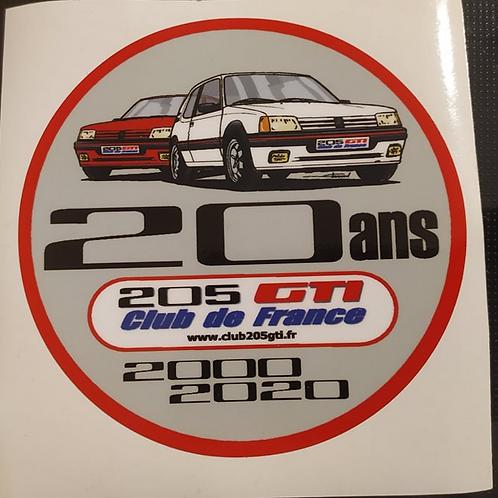 Autocollant 20 ans Club