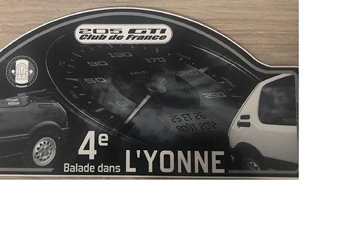 Plaque de sortie 4 Ballade dans L'YONNE