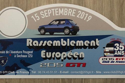 Plaque du rassemblement Européen