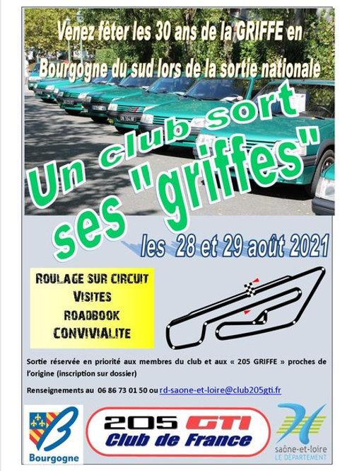 """Sortie Nationale (71) - Un club sort ses """"Griffres"""""""