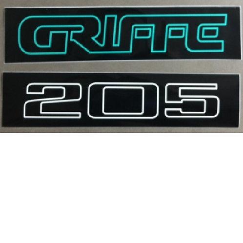 Autocollants  205 Griffe