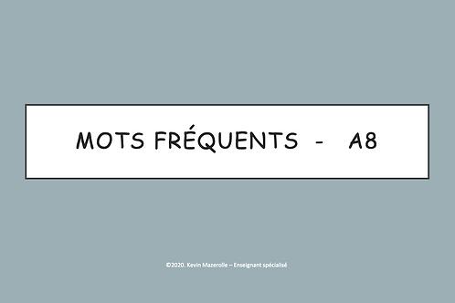 Les mots fréquents - A8