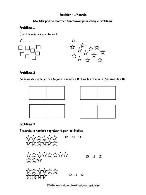 Révision - Maths - 1re année