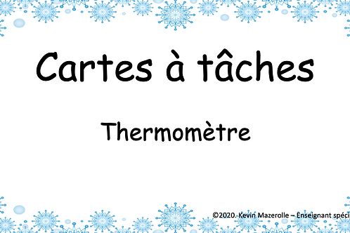 Cartes à tâches - Thermomètre