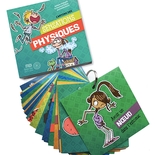 Sensations physiques - Cartons psychoéducatifs
