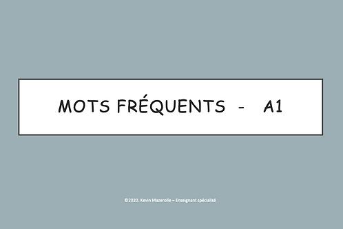 Les mots fréquents - A1