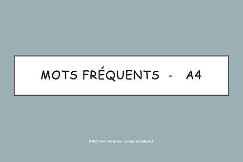 Les mots fréquents - A4