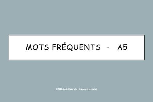Les mots fréquents - A5