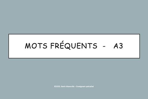 Les mots fréquents - A3