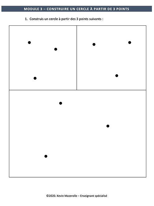 Module 3 - Construire un cercle